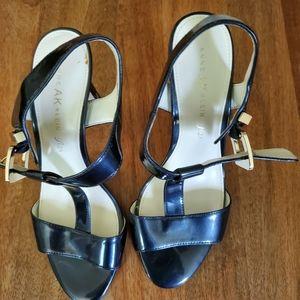 Anne Klein blue heels
